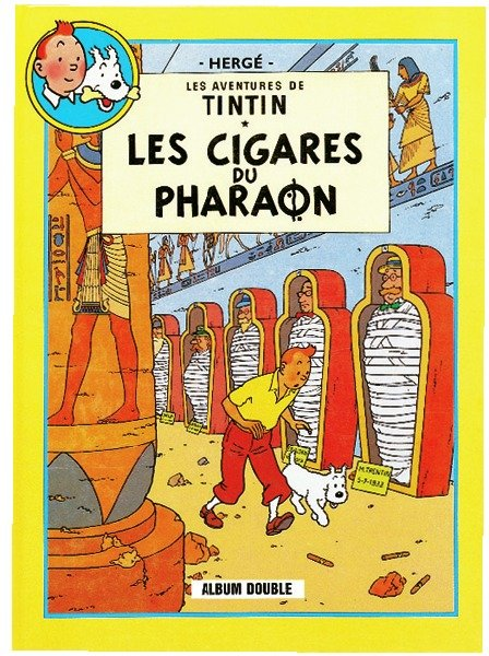 les aventures de tintin les cigares du pharaon le lotus bleu herg 1907 1983 livre. Black Bedroom Furniture Sets. Home Design Ideas
