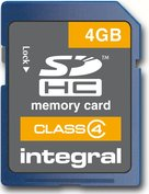 Carte mémoire SDHC 4 Go Integral