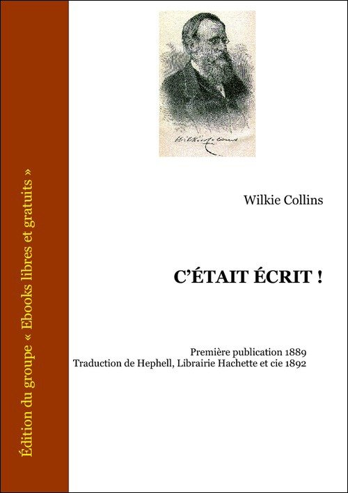 Vente E-Book :                                    C'était écrit ! (eBook)                                      - W. Wilkie Collins (1824-1889)
