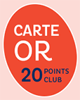 Pastille Carte OR 20 Points Club